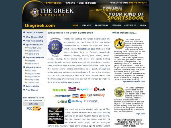 все о букмекерской конторе the greek