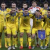 Ukraine's players pose for a picture before their Euro 2016 group C qualifying soccer match against Spain at the Olympic stadium in Kiev